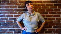 Silver jumper knitwear ( silver lake ) di MisStufiSaraForlini su Etsy
