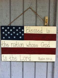 American Flag Door Hanger by ThePaintDiva on Etsy, $25.00