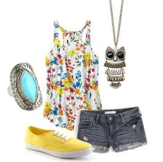 Cute Outfits for Teens - longer shorts but cute: 3 Cute Outfit Ideas for Summer Trips .