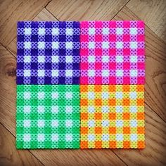 Vintage coaster set perler beads by Thea IMYBY