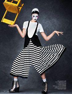 """La Pierette Joyeuse"" | Model: Mina Cvetkovic, Photographer: Christian Anwander, Vogue Netherlands, April 2013"