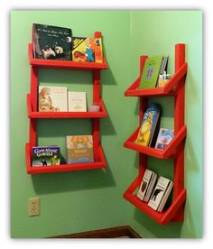 Nursery Crafty Kate: Nursery Bookshelves Ventless Gas Fireplace – Taking Care Of Yours Article Body: Hanging Bookshelves, Bookshelves Kids, Book Shelves, How To Clean Brick, Fireplace Stores, Nursery Bookshelf, Homemade Books, Toy Rooms, Kids Rooms
