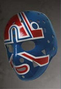 World-class full-size hand-crafted replicas of the hockey masks worn by the legendary NHL goalies from the and Hockey Goalie, Ice Hockey, Quebec Nordiques, Goalie Mask, Masked Man, Best Masks, Vancouver Canucks, Soccer Ball, Fun Games