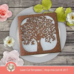 Product Laser cut invitations template free designs every day. Laser tree wedding invitation. 2017 @ shop-msl.com