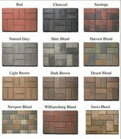 Paving Stone Colors