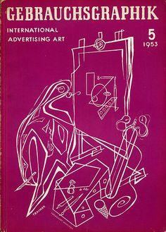 Gebrauchsgraphik 1953-5 Cover by bustbright, via Flickr