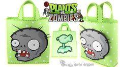 Bolsita de Plantas VS Zombie hecho con foamy o goma eva