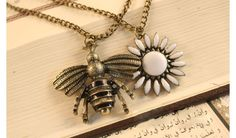 Beautiful Bee Necklace.