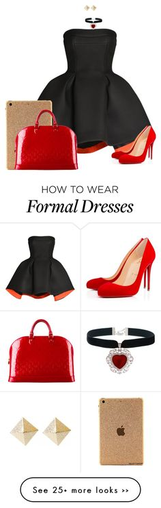 """""""Formal"""" by silv3r on Polyvore featuring Parlor, Christian Louboutin and Louis Vuitton"""