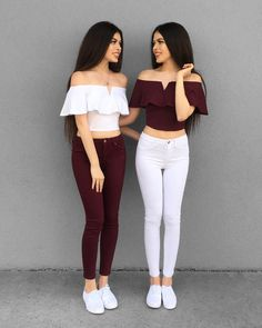 Casual Fall Outfits That Will Make You Look Cool – Fashion, Home decorating Twin Outfits, Teenager Outfits, Teen Fashion Outfits, Outfits For Teens, Fall Outfits, Girl Fashion, Matching Outfits Best Friend, Best Friend Outfits, Jugend Mode Outfits