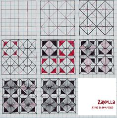 zentangle patterns steps | could have shown this with fewer steps, but I thought the lines ...