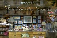 Counted cross stitched embroideries from Bonheur des dames