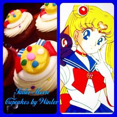 Sailor Moon Cupcakes by Winter