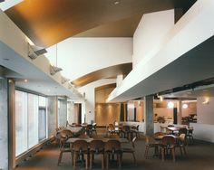 Carlton College Dining Hall. My favorite ceiling ever! Donghia gold vinyl wallpaper. #janedupuy #fourthhousellc