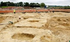 Almost 2,000 years after being buried, the remarkably well-preserved remains of 150 skeletons and their personal possessions have been discovered in a small market town at the foot of the Yorkshire Wolds.  The remains of the burial ground that contained skeletons of people from the middle-iron age Arras culture in Pocklington, east Yorkshire is being hailed as one of the largest and most significant iron age findings of recent times.  The site of the dig.