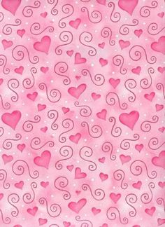 ♥ Pink Hearts & Swirls Wallpaper ♥