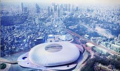 11 of the top architecture firms including zaha hadid, UNStudio and toyo ito have been shortlisted in the new national stadium japan competition. National Stadium, Toyo Ito, Sports Complex, Tokyo 2020, Zaha Hadid, Master Plan, Airplane View, Architecture Design, Competition