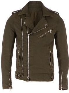 BALMAIN crinkled biker jacket £1,277 sale £1,022 Balmain - Men's Designer Clothing - Farfetch
