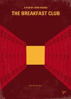 No309 My The Breakfast Club minimal movie poster  Five high school students, all different stereotypes, meet in detention, where they pour their hearts out to each other, and discover how they have a lot more in common than they thought.  Director: John Hughes Stars: Emilio Estevez, Judd Nelson, Molly RingwaldBreakfast, Club, high, school, students, Andrew, John, Allison, Brian, Claire, principal, marijuana,  minimal, minimalism, minimalist, movie, poster, film, artwork, cinema, alternative…