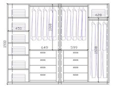 Wardrobe Closet Design Guidelines & Rules - All About Wardrobe Room, Wardrobe Design Bedroom, Bedroom Cupboard Designs, Bedroom Cupboards, Master Bedroom Closet, Modern Wardrobe, Wardrobe Door Designs, Closet Designs, Closet Layout