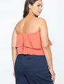 Tiered Sweetheart Neckline Strapless Top Coral Rose