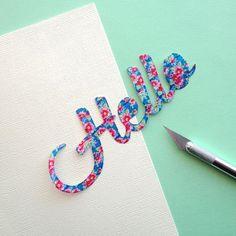 DIY Washi Tape Lettering Cards via Omiyage