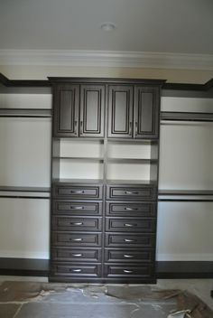 Gorgeous Dark wood Closet #customcloset http://www.123closets.com/closets.php