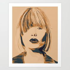 Funky Lady Green Art Print by Buy Frames, Poster Wall, Unique Art, Pop Art, Original Art, Canvas Art, Gallery Wall, My Arts, Tapestry