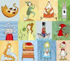 Las ilustraciones de los cuentos...
