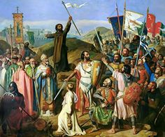 Jean-Victor Schnetz - Procession of Crusaders around Jerusalem, Size 20x24 inch, Poster art print wall décor - Brought to you by Avarsha.com