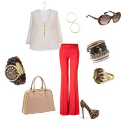 Red Pants w/ white top