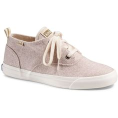 Keds Triumph Mid Women's Wool Shoes ($60) ❤ liked on Polyvore featuring shoes, lt beige, keds, patterned shoes, round cap, laced up shoes and lace up shoes