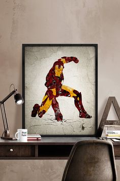 Iron Man poster, Print, Iron Man print, Grunge, Avengers print, Superhero poster, Marvel, Wall Art, Heroes Illustrations, Comic poster, Gift