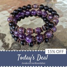 Today Only! 15% OFF this item.  Follow us on Pinterest to be the first to see our exciting Daily Deals. Today's Product: Sale -  8 mm Black Onyx Amethyst Wrist Mala Beads Healing Bracelet - Blessed Karma Nirvana Meditation Prayer Beads For Awakening Chakra Kund Buy now: https://small.bz/AAZltUs #etsy #etsyseller #etsyshop #etsylove #etsyfinds #etsygifts #musthave #loveit #instacool #shop #shopping #onlineshopping #instashop #instagood #instafollow #photooftheday #picoftheday #love #OTstores…