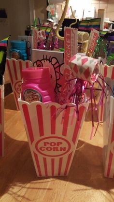 Movie theater party favors.