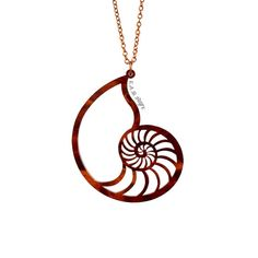 Nautilus Shell Necklace  Laser Cut Acrylic C.A.B. by CABfayre