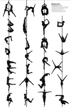 Amazing pole dancer alphabet chart