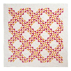 19th century Mounted Mini-Pieced Ocean Waves Crib Quilt/Pennsylvania, seen at East meets West Antiques