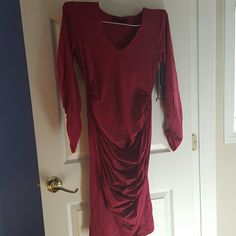 Eva Alexander dress Ruched midi maternity dress Eva Alexander  Dresses Midi