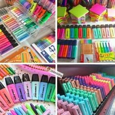 Ugh i need these Stationary Store, Stationary School, School Stationery, Cute Stationery, Craft Closet Organization, Stationary Organization, School Suplies, Study Room Decor, Back To School Supplies