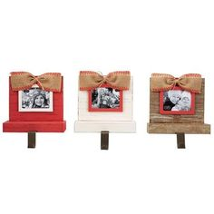 Frame Stocking Holders by Mud Pie