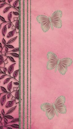 Pink and silver with butterfly