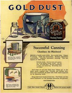 N. K. Fairbank Co.'s Gold Dust Washing Powder – Gold Dust – Successful Canning (1922)