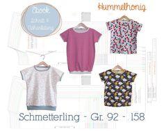 Ebook Minutenshirt Schmetterling – Gr.92-158   Hummelhonig