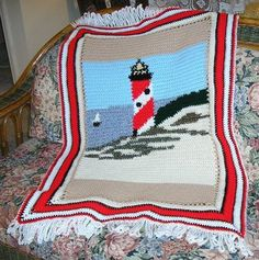 crocheted lighthouse pattern | Crochet Pattern For Light House Afghan | Free Patterns For Crochet