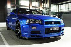 Nissan Skyline R34 GTR Vspec - Bayside Blue by iwanta34gtr, via Flickr