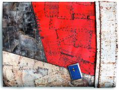 """Andrea Cereda """"Convivenze"""", 2015, Lamiera e filo di ferro, 150 x 200 cm, Foto di Mauro Ranzani.  Mostra WELOVESLEEP, Galleria Santa Radegonda, fermata Duomo della metropolitana di Milano, fino al 14 giugno 2015. INGRESSO GRATUITO #welovesleep"""