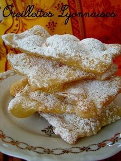 Les Oreillettes de ma grand-mère - Deep Fryer - Ideas of Deep Fryer Beignets, Cheesecake Cookies, Cheesecake Recipes, Dessert Recipes, Desserts With Biscuits, Food Cakes, Cookie Dough, New Recipes, Food And Drink
