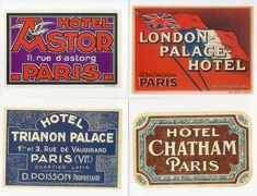 20-Retro-Luggage-Labels-Stickers-VINTAGE-PARIS-HOTELS-4.jpg (1094×837)