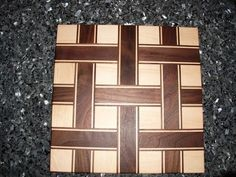 My take on the basket weave design floating around on LJ, made with hard maple and walnut. Carpentry And Joinery, 3d Panels, Cabinet Making, Interior Trim, Cutting Boards, Wood Work, Wood Wall Art, Basket Weaving, Wood Projects